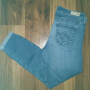 AG Cigarette Roll Up Denim Jeans